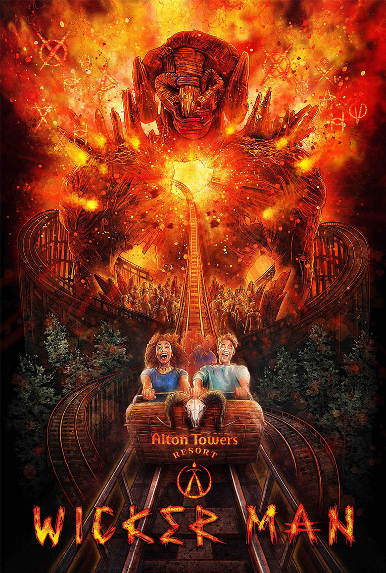 Alton Towers Resort - Wicker Man