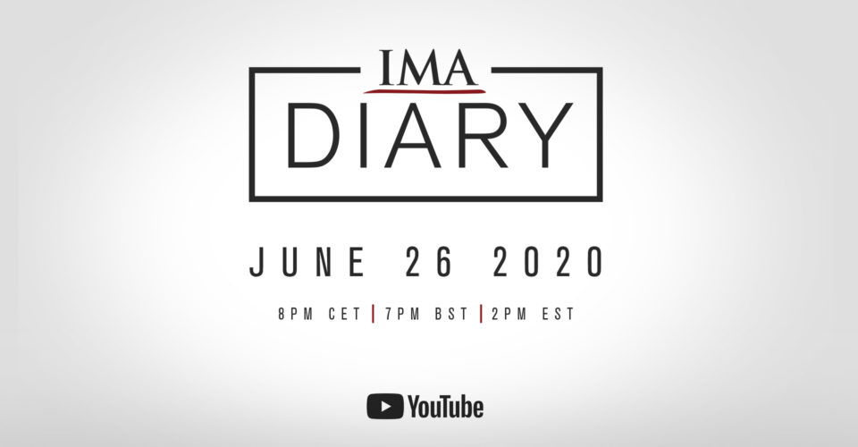 Watch our first IMAdiary with some exciting news and announcements!